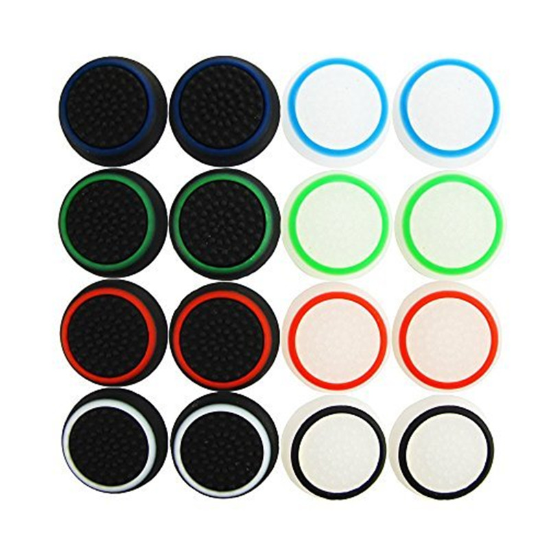 2PCS Silicone Thumb Stick Grip Caps Protective Cover Gamepad Keycap For PS4 Game Controllers-in Replacement Parts & Accessories from Consumer Electronics