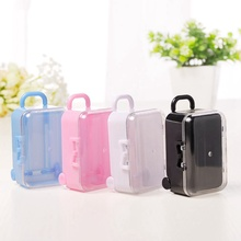 mini roller travel suitcase candy box personality creative wedding luggage trolley case toy small storage