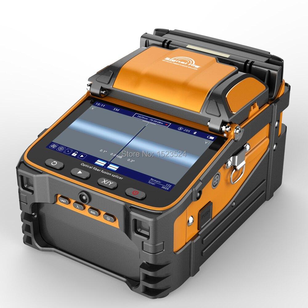 AI-9 Multi-language Automatico A Sei Motori Intelligente FTTH Fibra Ottica Della Macchina Splicing Fibra Ottica Fusion Splicer