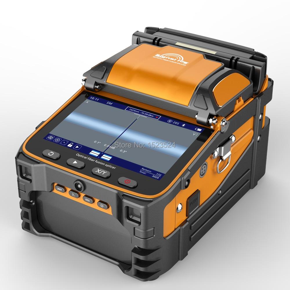 AI-9 multilingue Automatique Six Moteurs Intelligent Optique De Fiber de FTTH Épisseuse Optique Épisseuse à Fusion De Fibers
