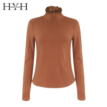 HYH HAOYIHUI Thick Turtleneck Warm Women Autumn Winter Knitted Femme Pull High Elasticity Slim Sweater