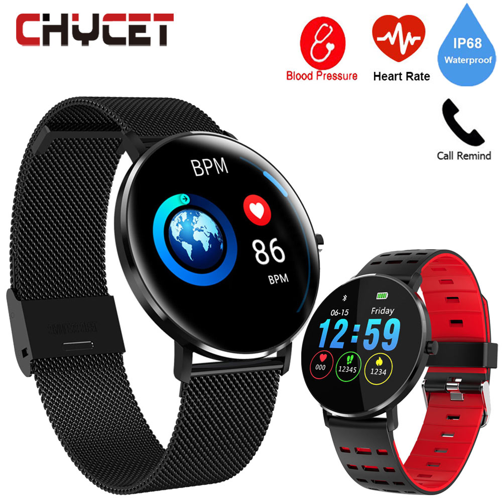 Smart Watch Round Full Touch Color Screen IP68 Waterproof Smartwatch Watch Blood Pressure Heart Rate Monitor