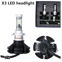 2pcs 2019 led h7 h4 H3 H8 H9 H11 H13 9005 hb3 9006 hb4 72W 12000lm 12v 24v X3 H1 lamp car bulb headlight 24 Months Warranty(China)