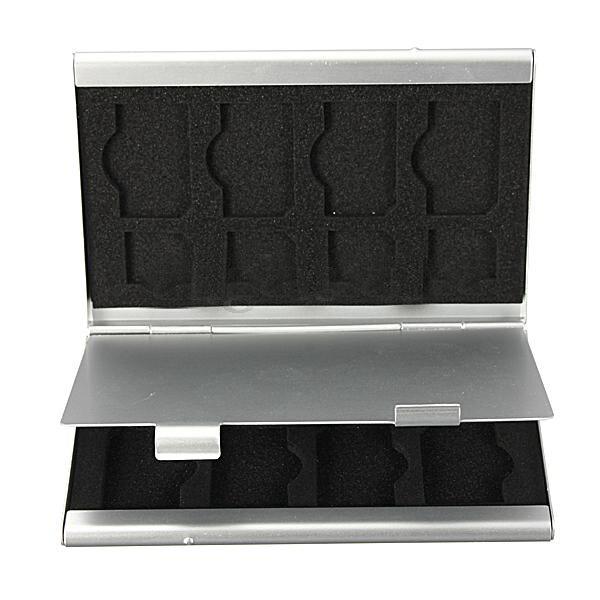 15 In 1 Aluminum SIM Micro-SIM Memory Card Card Holder Case Holder