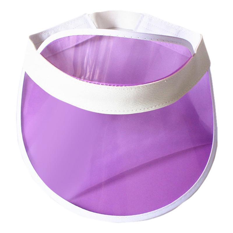 Summer Unisex Women Men Sun Hat Candy Color Transparent Empty Top Plastic PVC Sunshade Hat Visor Caps Bicycle Sunhat Wholesale