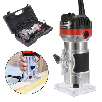 220V 35000RPM 1/4''  530W Electric Hand Trimmer Wood Laminator Router Tool Set