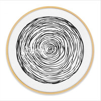 New Painting Circular Nordic Wall Paintings Decorative Canvas Painting With Wooden Frame Modern Style Poster For Home Decoration