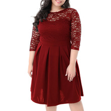 Sexy Women Lace Dress Hollow Out Plus Size Midi Elegant Backless Party Evening Big Black 5XL 6XL Vestidos