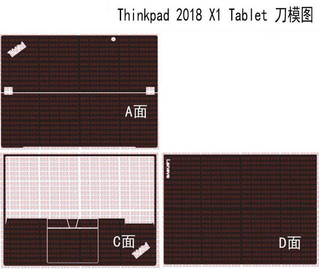 """מחשב נייד סיבי פחמן עור מדבקות כיסוי עבור Lenovo thinkpad X1 Tablet 2018 שחרור 13"""""""