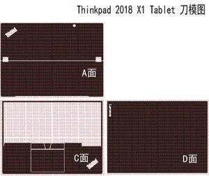 """Image 1 - ラップトップカーボンファイバースキン用レノボ thinkpad X1 タブレット 2018 リリース 13"""""""