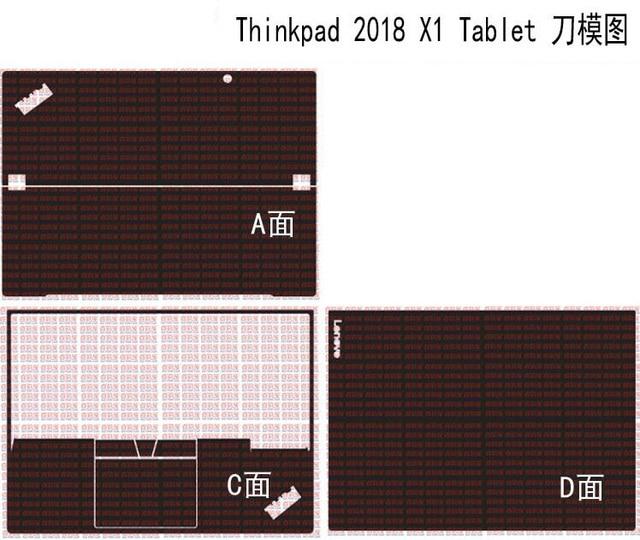 """ラップトップカーボンファイバースキン用レノボ thinkpad X1 タブレット 2018 リリース 13"""""""