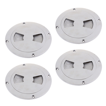 Pack of 4 Boat Screw Out Deck Inspection Hatch Plate Caravan Compartment Access 6.9 Inch