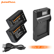Powtree 7.2V 1400mAh BP-1030 BP1030 BP1130 BP-1130 Repalcement Camera Battery+LCD Charger For Samsung NX200 Camera Battery L10 недорого