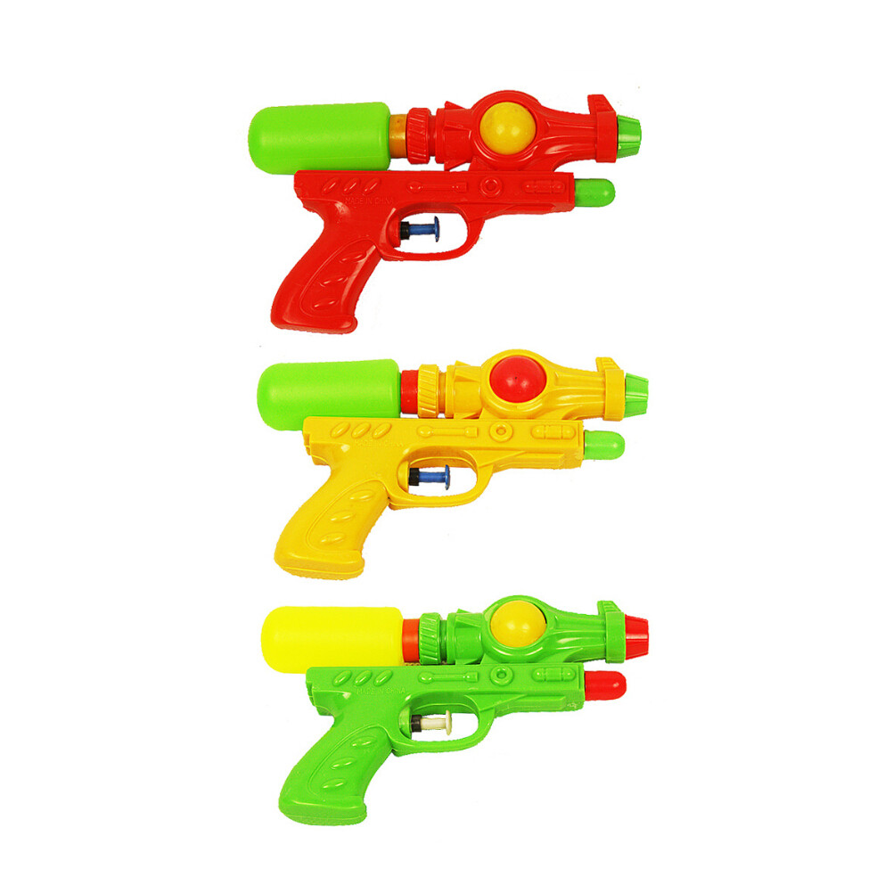 3 Pcs Double Barreled Water Shooters Kids Beach Toys Water Guns Toy For Children Summer Play (Random Color)