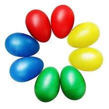8 шт. игривые пластиковые Ударные музыкальные яйца Маракас яйцо Шейкеры Детские игрушки-4 разных цвета