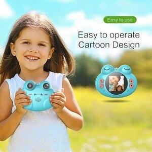 Image 4 - K5 caméra numérique Hd bande dessinée pour enfants Anti chute petite grenouille caméra (bleu)