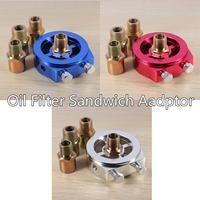 Universal Oil Gauge Filter Sandwich Plate Pressure Temperature Sender Sensor|Oil Pressure Gauges| |  -