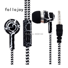 earphone 3.5mm Port Plug SF-A19 Crack Braided Wired Earphone with Microphone Control for Android iPhone