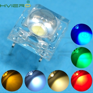 100pcs F5 5mm Red Green Blue White Yellow Dome Flux Water Clear Piranha 1.9~3.4V Led Car Lamps Light Emitting Diodes Led Bulb