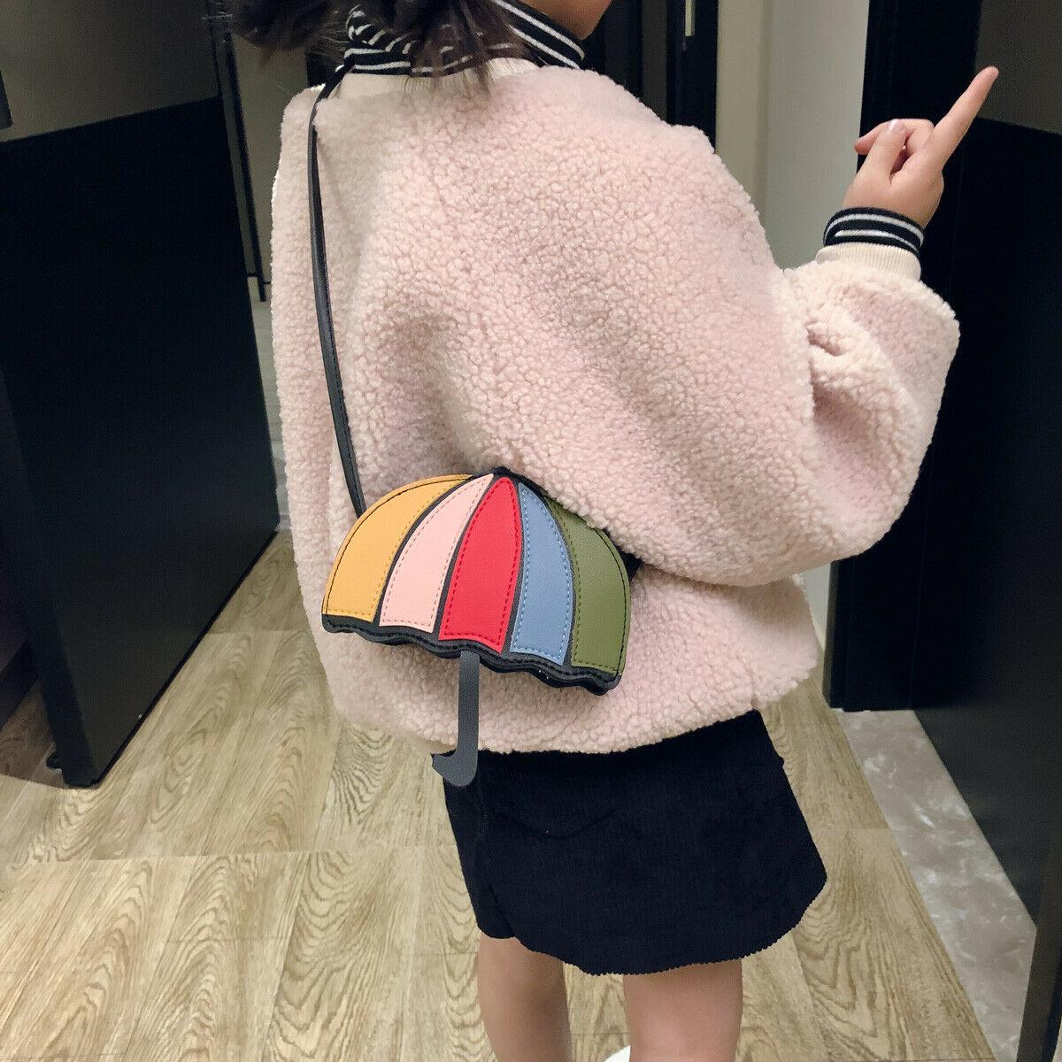 Children Kids Girls Cartoon Inclinned Shoulder Bags Pocket Purse Crossbody Bags