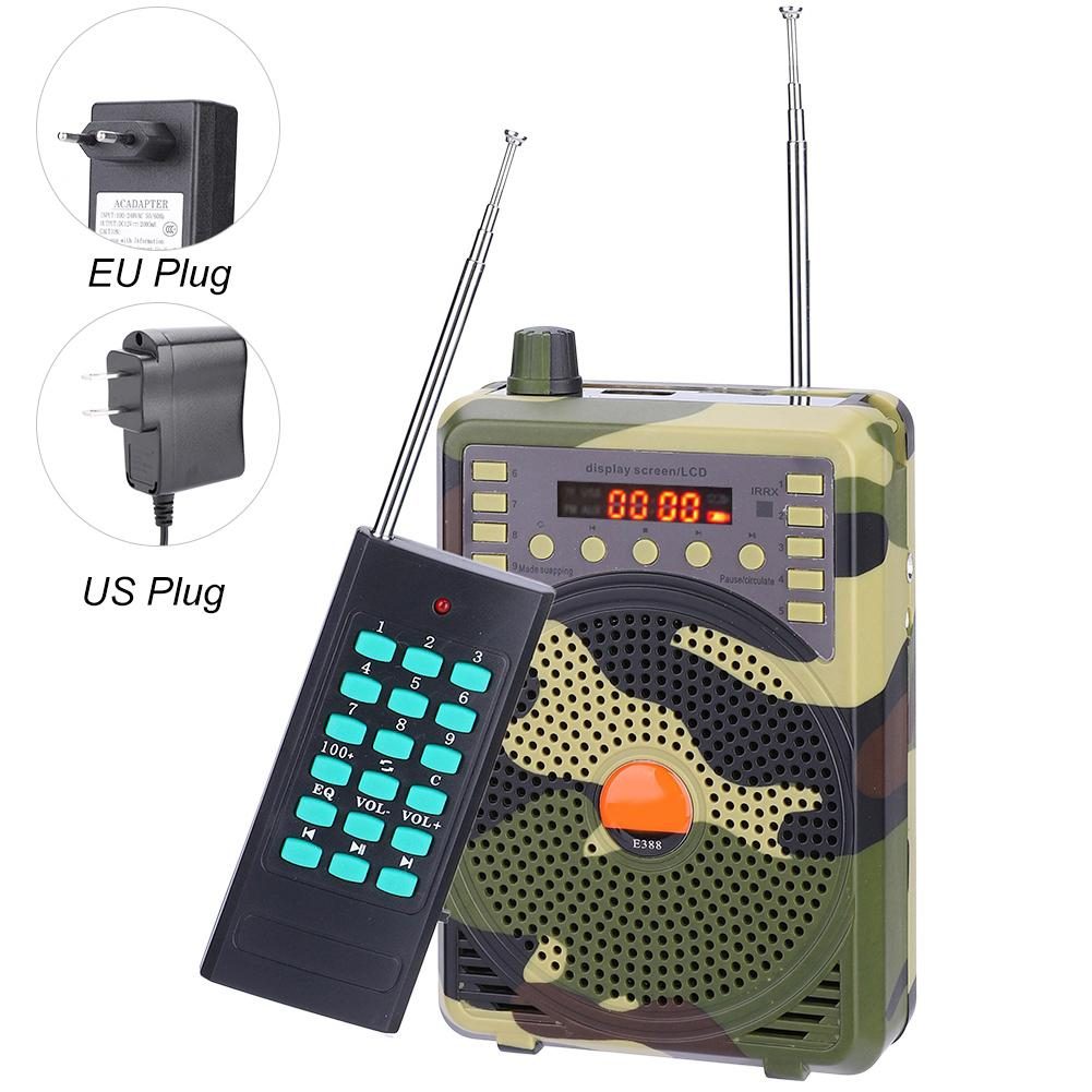 400m Remote Controller Electronic Bird Caller Hunting Decoy Calls MP3 Speaker Luring Birds Hunting Accessories