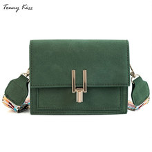Tonny Kizz fashion shoulder bags for women luxury handbags designer matte leather crossbody wide strap bolso