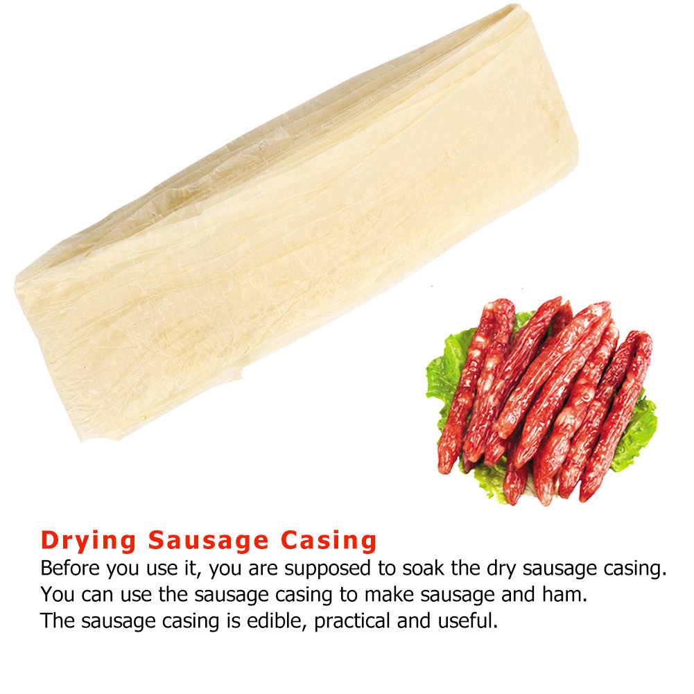 Hot Sausage Packaging Tools Edible Drying Cantonese-style Sausage Casing for Flavorous Homemade Sausages Ham Salami Kitchen Tool