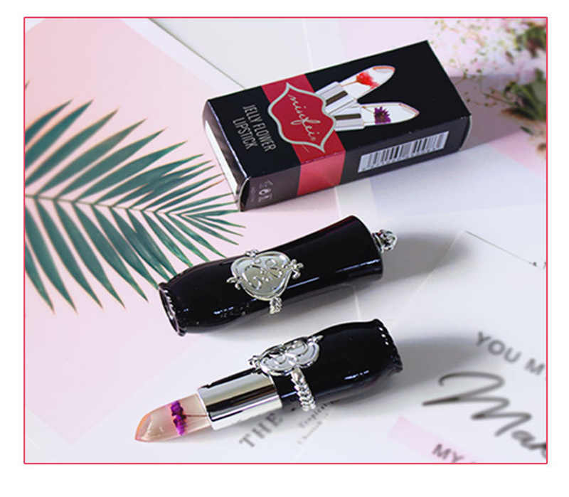 Minfei Transparan Jelly Lipstik Suhu Hitam Tahan Lama Tahan Air Bibir Makeup Moisturizing Lipstik TSLM1