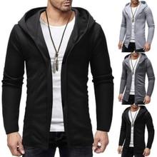 a4ea3c338f8e 2019 New Fashion Men Hooded Sweatshirts Hip Hop Mantle Hoodies Jacket Long  Sleeve Cloak Male Coat