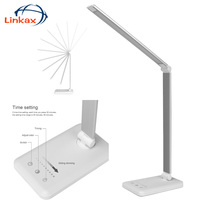 Stepless Dimmable Adjustable Book lights Clamp On Bedside 6W Touch switch Desk Reading Lights/Lamp Touch Switch Lighting