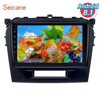 Seicane Android 8.1 9 inch Touchscreen 2DIN Radio Bluetooth GPS Navigation for 2015 2016 SUZUKI VITARA support OBD2 Mirror Link