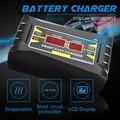 Volle Automatische Auto Ladegerät 110 V/220 V Zu 12V 6A Batterie Ladegerät Digital Display Auto Smart Schnelle lade für Auto Motorrad auf