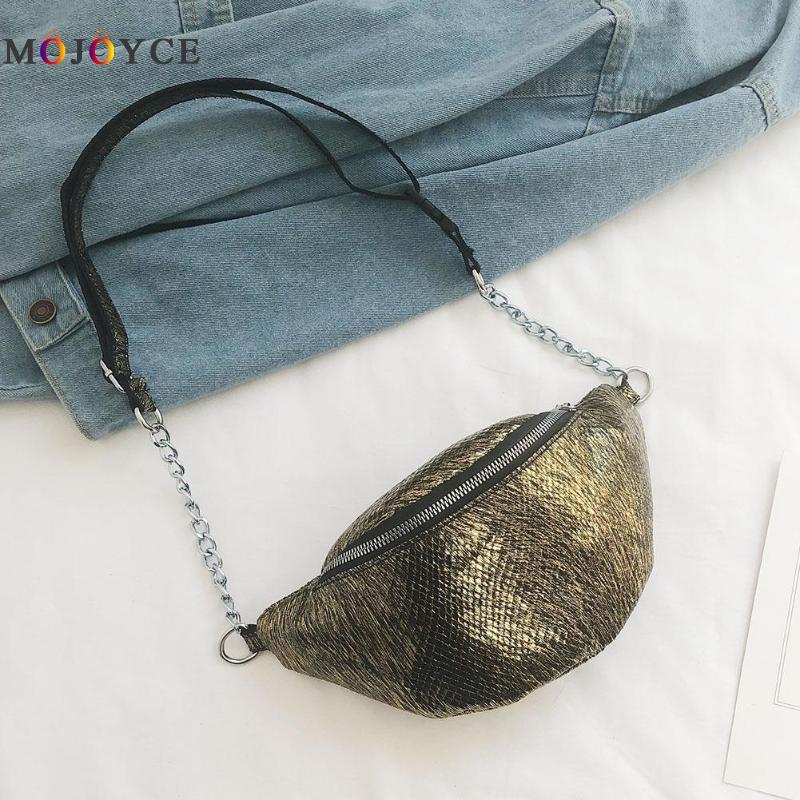New Fashion PU Leather Fanny Pack Women Heuptas Luxury Adjustable Hip Waist Bag For Ladies