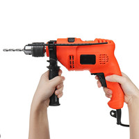 Doersupp 220V Home Impact Drill Tool Multi function Power Tool Pistol Drill Hand Drill Electric To Light Electric Hammer