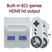 цены ALLOYSEED Retro Mini HDMI TV Video Game Console 8Bit Handheld Game Player With 2 Gamepad Controller Built-In 821 Classic Games