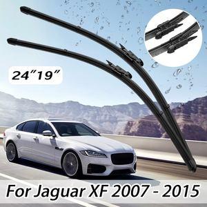2 uds. Escobillas limpiaparabrisas delanteras izquierda y derecha de 19 pulgadas y 24 pulgadas aptas para Jaguar XF 2007-2015