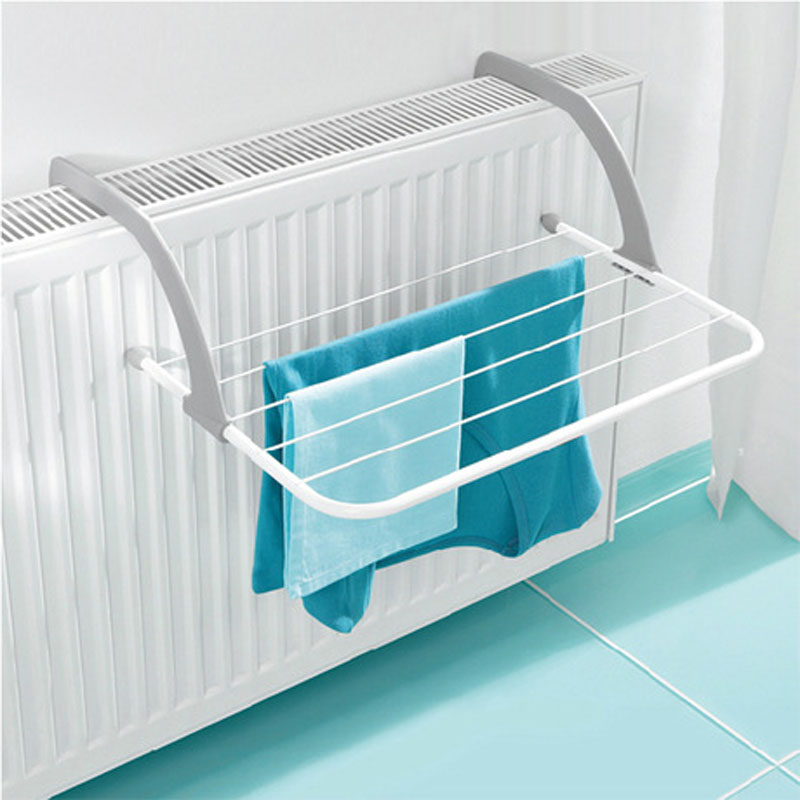 Portable Foldable Drying Rack Clothes Punch Free Hanger Winter Heating Radiator Balcony Clothes Hanger 52X16X34.5Cm