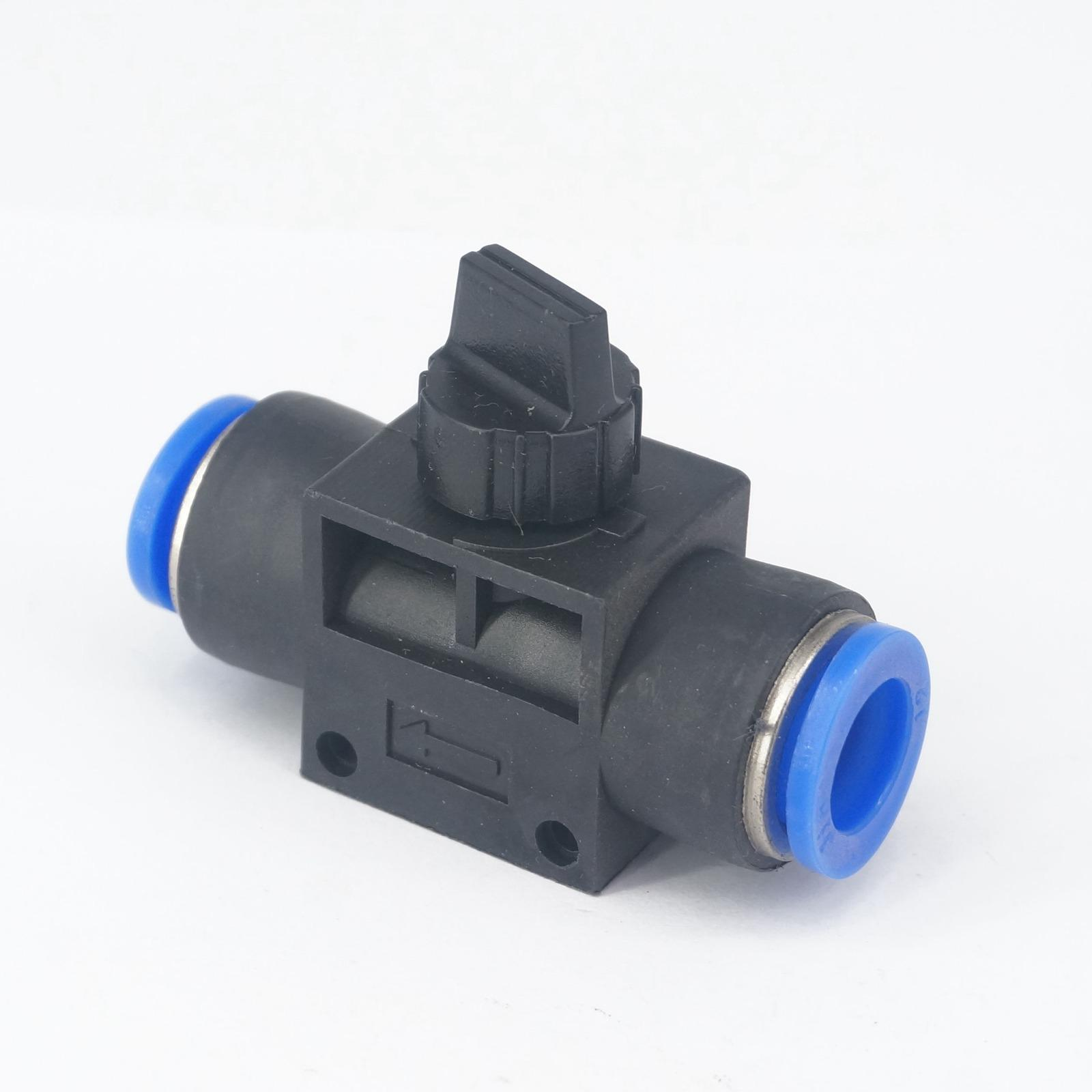 Fit Tube O/D 12mm Pneumatic ball Valve Hand Shut off Push In Connector Quick Release Air Fitting