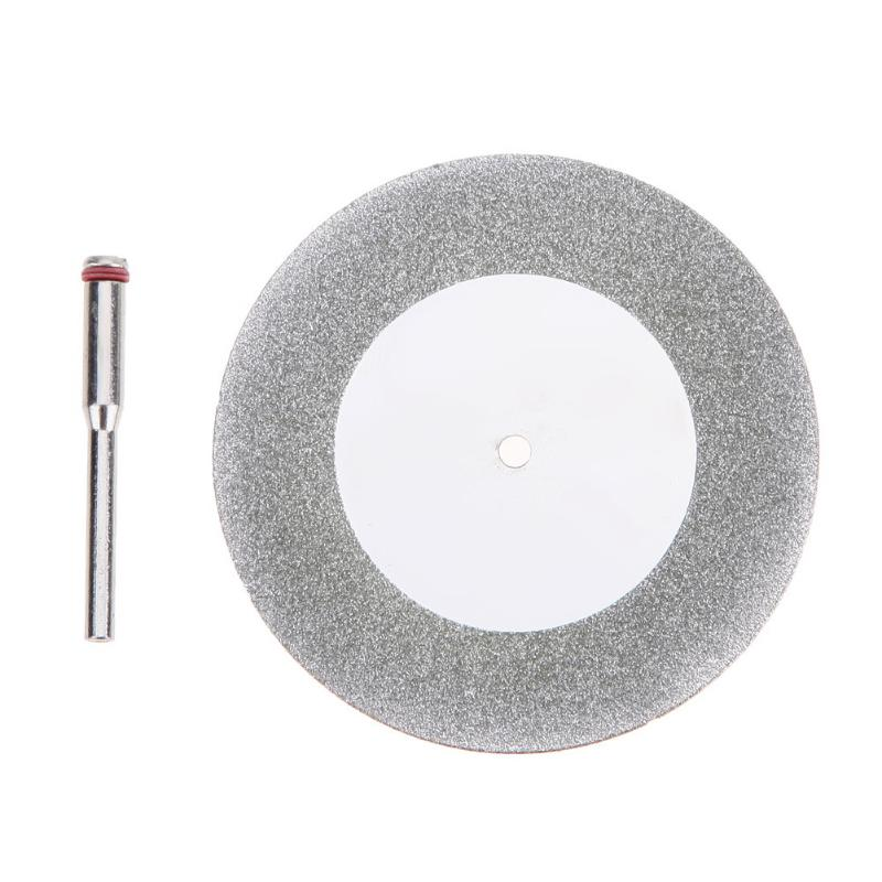 60mm Diamond Cutting Disc Mandrel Dremel Accessories Mini Circular Saw Blade Electric Saw For Drill Steel Rotary Cutting Tool