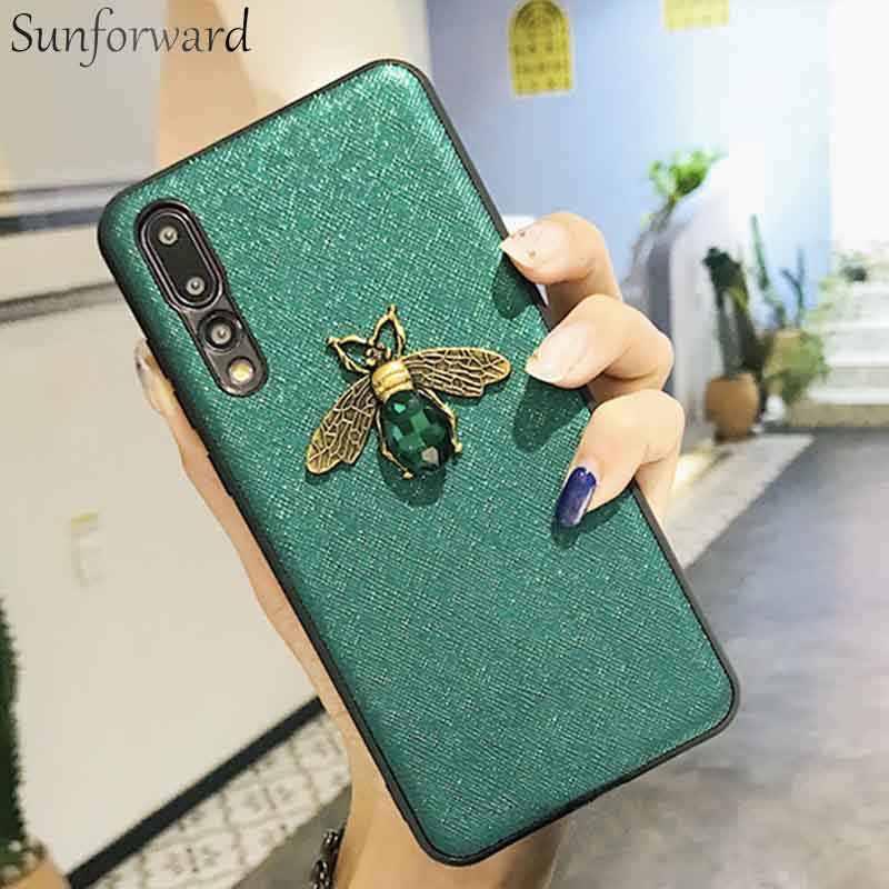 Sunforward Винтажный чехол для huawei P20 Pro матовый чехол 20 Lite Honor 8x10 Nova 3i P Smart Plus Чехлы Роскошные Симпатичные Пчелы мягкий чехол