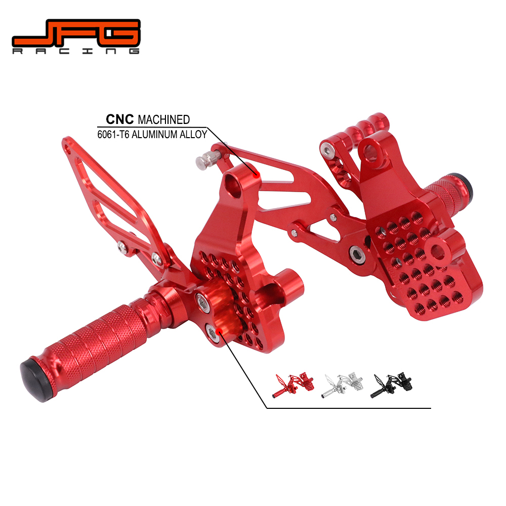 Motorcycle CNC Adjustable Foot Pegs Pedals Rest Rearset Footpegs For DUCATI 999 999S 999R 749 Dark 749R 749S 2003-2006