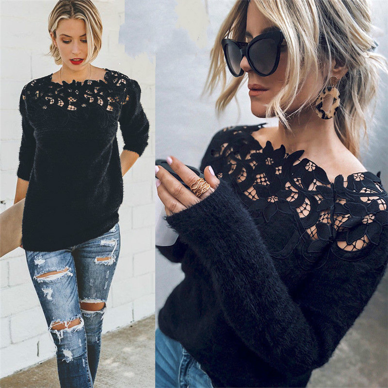 Women's Loose Knitted Pullover…