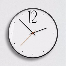 New 12inch/14inch 3D Quartz Wall Clock Modern Design Simple Chinese Style Metal Large Size Silent Movement