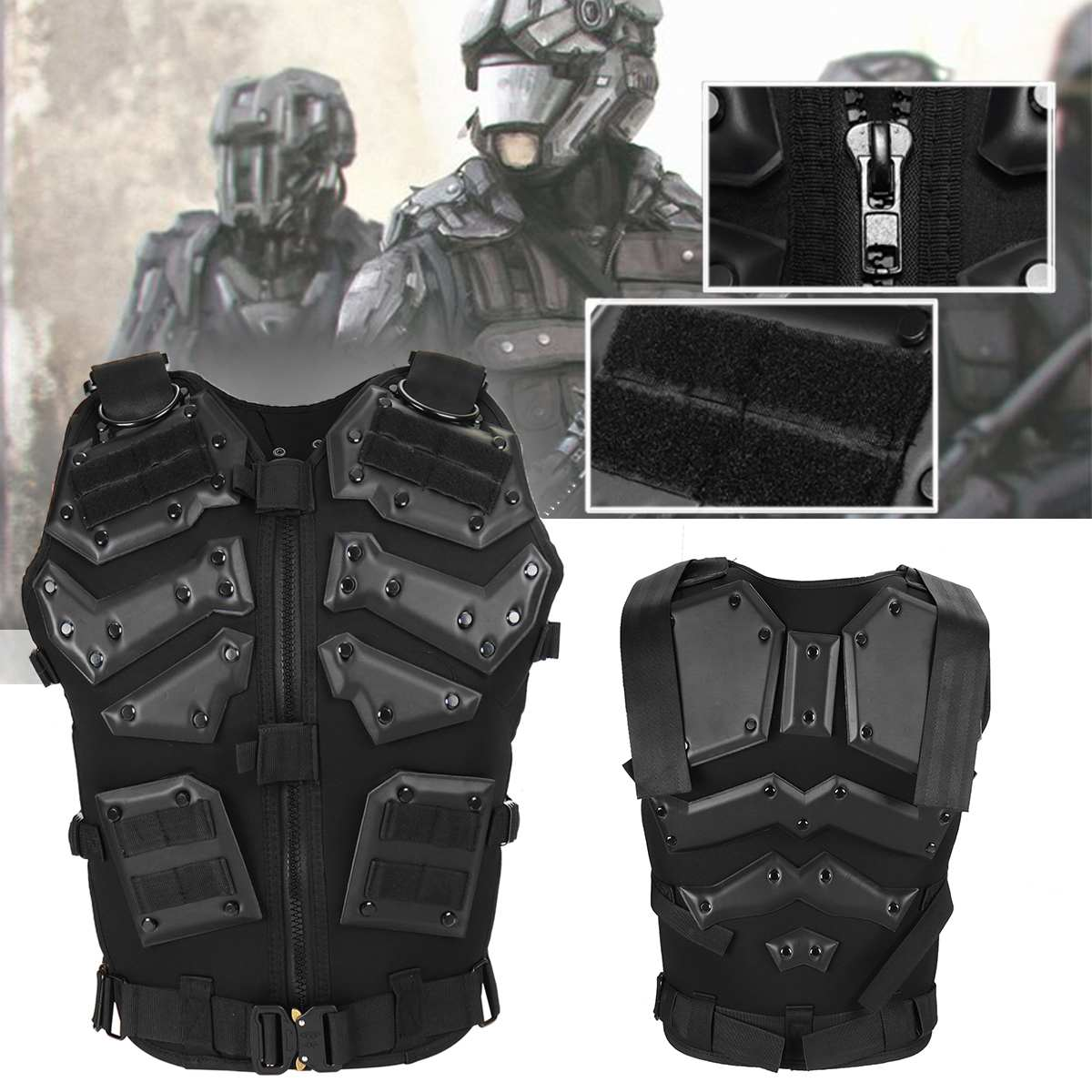 Gilet tactique armure corporelle en plein air Airsoft Paintball formation équipement de Protection gilets Molle vêtements de plein air gilet de chasse