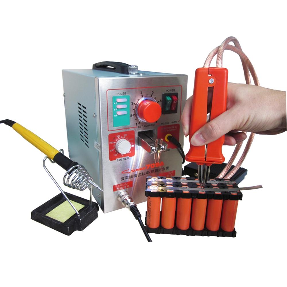 Spot Welder UK Plug Eu Plug 220V Spot Welders 2/4/6/8 Spot Welding Machine For 18650 Battery Pack Circuit Board Solder