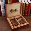 GALINER español de madera de cedro de Humidor de puros imanes higrómetro humidificador para Cohiba cigarros humidificador caso caja de Navidad