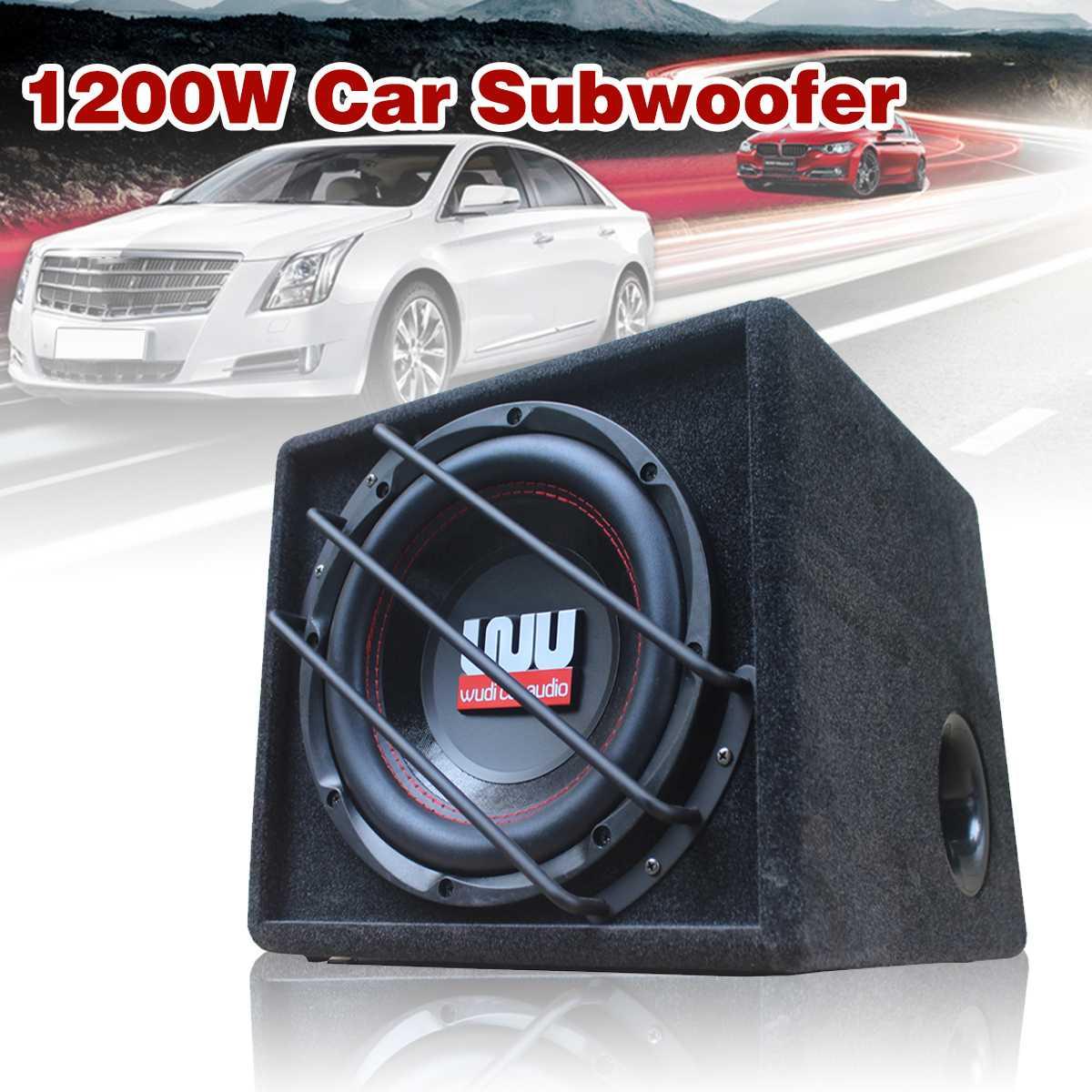 10 Inch 1200w Car Subwoofer Strong Subwoofer Car Speaker Auto Super Bass Car Audio Speaker Active Woofer Built-in Amplifer