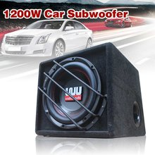 10 inch 1200w car subwoofer Strong Subwoofer Car Speaker Auto Super Bass Car Audio Speaker active Woofer Built-in Amplifer(China)