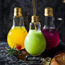 2018 nova lâmpada copo de cocktail para bar vinho encantos vidro bicchieri vetro copos de vino festa portátil verre cocktails bicchiere copo
