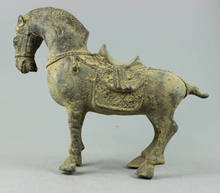 Collectible Decorated Old Handwork Bronze sculpture Horse statue(China)